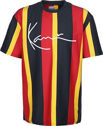 Karl Kani Herren T-Shirts Signature Stripe blau M