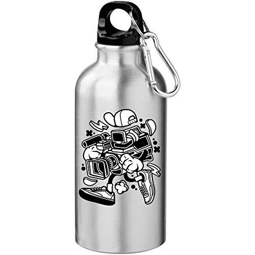 Iprints Cartoon Styled videocamera Urban Filming Tourist Water Bottle