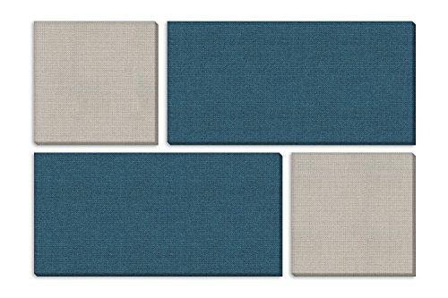 "Acoustic Design Works - Mondrian Kit of Acoustic Panels – 73"" X 49"" X 1"""