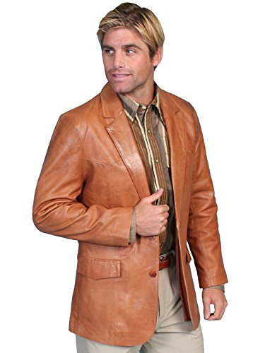 Scully Men's Lamb Leather Blazer Regular Ranch Tan 42 R
