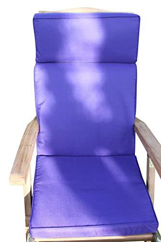 Garden Market Place Coussin inclinable pour Chaise de Jardin Violet 95 x 45 x 35 cm