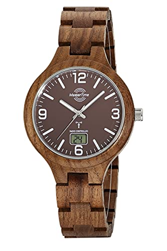 Master Time Reloj analógico digital de cuarzo para hombre con pulsera de madera (nogal) MTGW-10747-31W