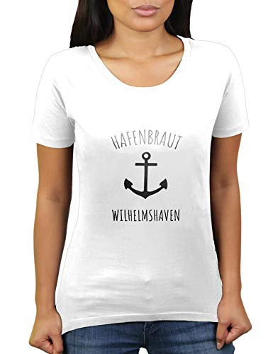 KaterLikoli Wilhelmshaven – Ciudad puerto publicación fiesta traje JGA – despedida de soltero – Camiseta para mujer Blanco L