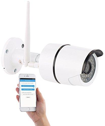 7links Webcam WLAN Outdoor: Wetterfeste WLAN-IP-Kamera mit Full HD 1080p und IR-Nachtsicht, IP66 (WLAN Überwachungskamera außen)