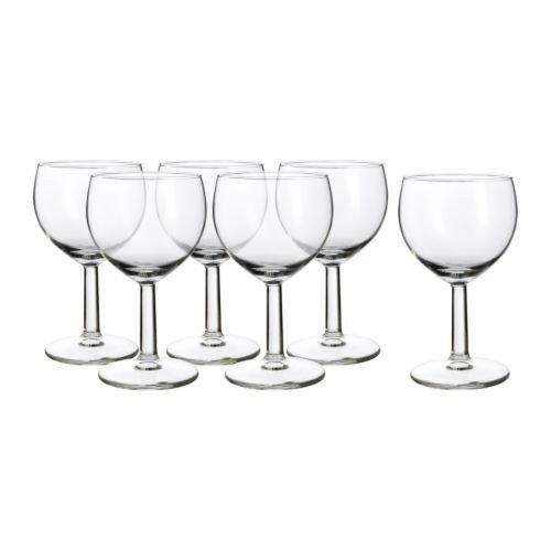 """IKEA 6-er Set Weißweingläser \""""Försiktigt\"""" Gläserset mit sechs Weingläsern - mit 16cl Inhalt - spülmaschinenfest"""