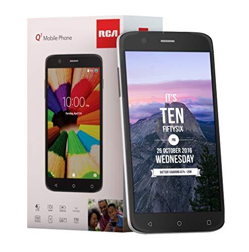 RCA Q1 4G LTE, 16GB, Unlocked Dual SIM Cell Phone, Android 6.0 - Black...