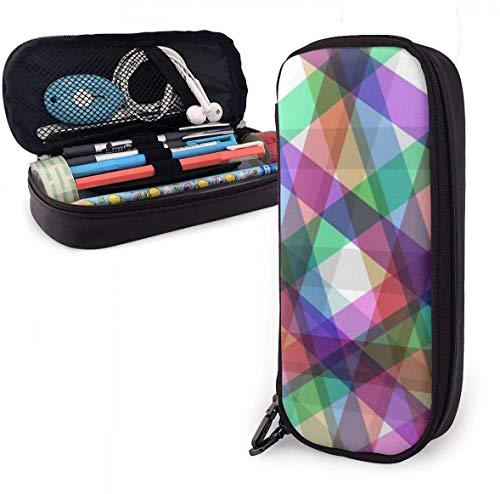 Palette Shape Stripe Pattern Pencil Case for Boys and Girls Large Pencil Pouch Holder Pen Case for Student College School Supplies & Office