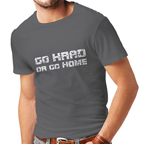 lepni.me heren T-shirt Go Hard or Go Home! - Spreken voor motorrijders, voor bikers, skaters, scooters.