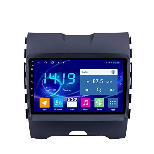 Sistema de navegación GPS, adecuado para 15-18 Ford Edge Ranger Coche GPS, navegación de pantalla táctil estéreo HD, radio de automóvil, reproductor Bluetooth 4 + 64g