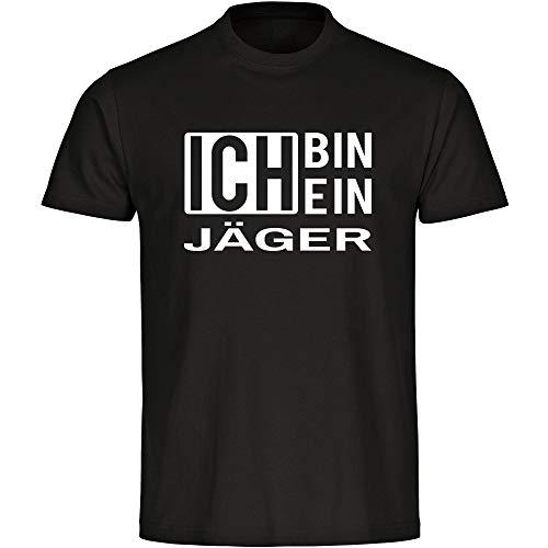 Camiseta para hombre con texto en alemán 'Ich Bin EIN Jäger', color negro, talla S - 5XL Negro S
