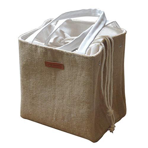 Bageek Mittagessen Tasche Tragbare Kordelzug Thermische Mittagessen Handtasche Mittagessen Halter für Picknick