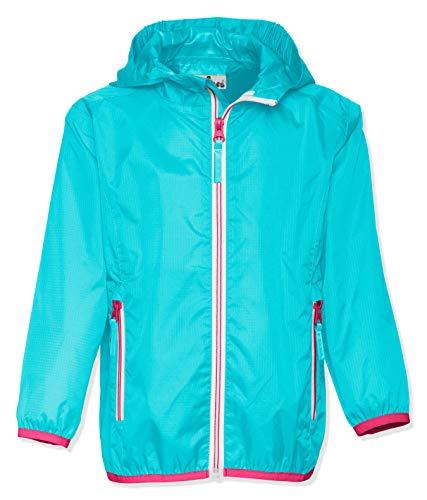 Playshoes Kinder Regenjacke mit Kapuze, faltbare Funktions-Jacke für Mädchen und Jungen , Türkis (Türkis 15) , 92