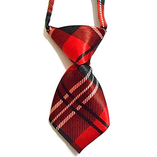 EROSPA® Krawatte Halsbinde Schlips - Hund Katze - rot/schwarz/weiß