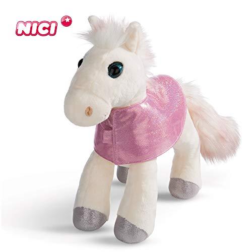 NICI knuffeldier paard White Peach 25 cm – pluche dier paard voor meisjes, jongens en baby's – pluizig knuffeldier om te knuffelen, spelen en slapen – gezellige knuffeldier voor elke leeftijd – 44901
