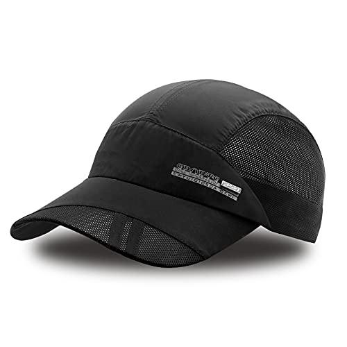 FSFTTRAD Hat for Men Woman Sports Cap Sun Hat Quick Drying Soft Polyester Fiber Adjustable for Unisex (Adjustable 56-60 cm)