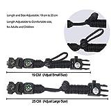 Zoom IMG-1 braccialetto paracord sopravvivenza militare kit