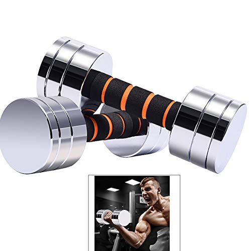 Yajun Fitness Hantel Set Langhantel Muskel Bodybuilding Krafttraining Home Indoor Body Workout Sportausrüstung,2KG(1KG*2)