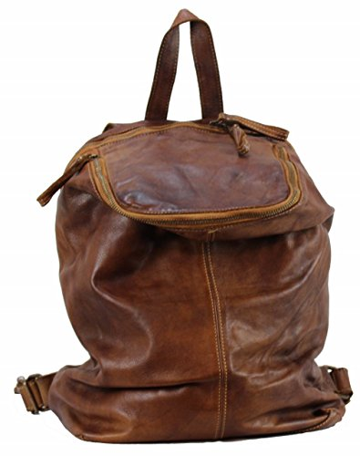 BOZANA Bag Richie - Zaino da donna, in nappa, colore: cognac