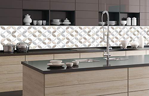 DIMEX LINE Küchenrückwand Folie selbstklebend BRAUNE BLÜTENBLÄTTER 350 x 60 cm | Klebefolie - Dekofolie - Spritzschutz für Küche | Premium QUALITÄT