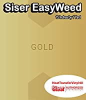 Siser EasyWeed アイロン接着 熱転写ビニール - 15インチ 1 Yard ゴールド HTV4USEW15x1YD