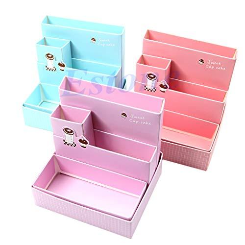 ruiruiNIE Makeup Box, DIY Papier Bord Box Schreibtisch Lagerung Decor Organizer Schreibwaren Make-Up Kosmetik (zufällige Farbe)