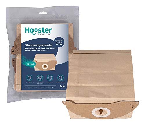Hooster 10 bolsas de aspiradora para Kärcher WD 2.200 hasta WD 2.299 / WD2.200 hasta WD2.299 / Papel/versión corta