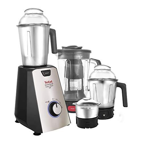 Tefal Grindforce Easyclean 750-Watt Mixer Grinder with 3 Stainless Steel Jars + Blender