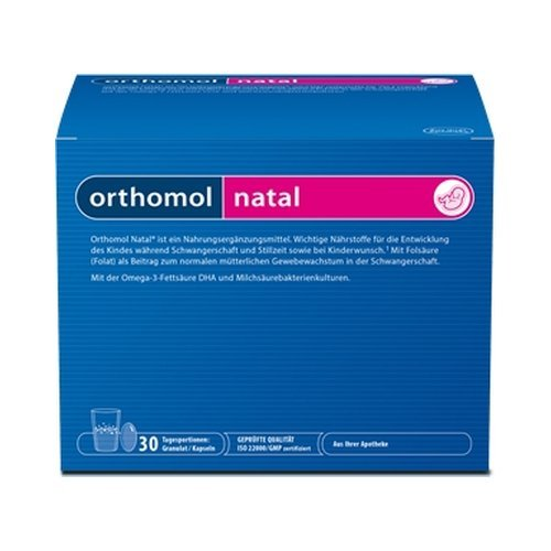 Orthomol Natal 30 Doses Micronutrient Sachets + Orthomol Capsules