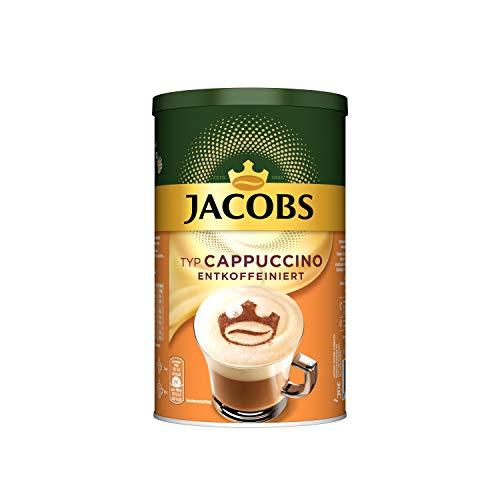 Jacobs Cappuccino entkoffeiniert, 1er Pack Kaffeespezialitäten, 1 x 220 g in der Dose