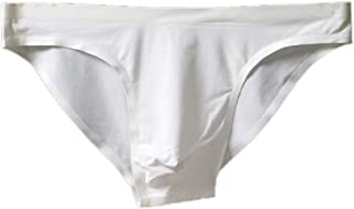 Mens Solid Color Low Rise Briefs Seamless Breathable Ice Silk Underwear