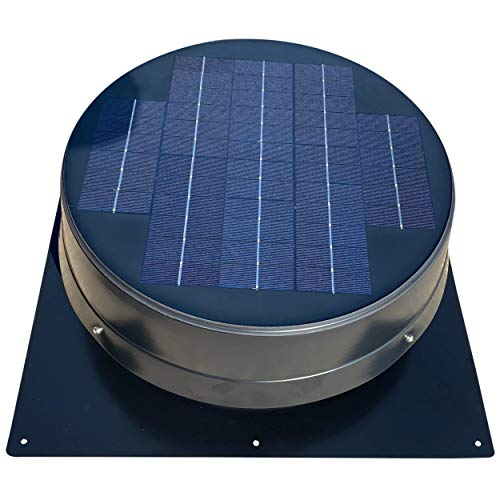 """20-Watt Solar Attic Fan (BDB) with Thermostat /Humidistat (23 x 23 x 8.75 IN) - Brushless Motor – Solar Vent Fan that's Hail and Weather Resistant – """"Builder Series"""" by Remington Solar"""