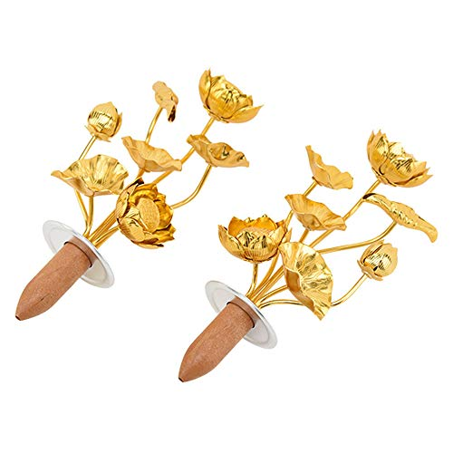 【お仏壇のはせがわ】 仏具 仏壇用品 じょうか 金花 造花 常花 アルミ 金メッキ 4.0 T