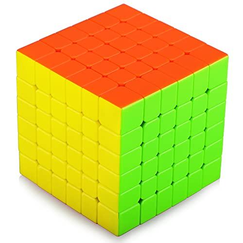 TOYESS Speed Cube 6x6 Stickerless Cubo Mágico, Paquete de Regalo de Juguete de Rompecabezas