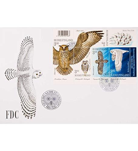 Goldhahn Finnland Block 19 FDC Ersttagsbrief Eulen Briefmarken für Sammler