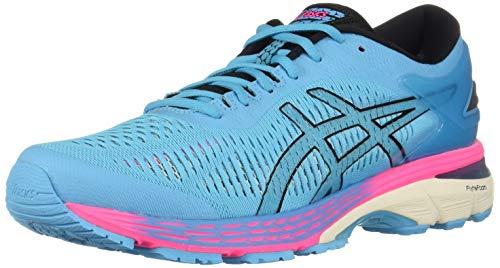 ASICS Women's Gel-Kayano 25 Running Shoes, 8M, Aquarium/Black