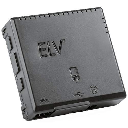ELV Bausatz Gehäuse RP-Case für Raspberry Pi und RPI-RF-MOD Funk-Modulplatine, schwarz