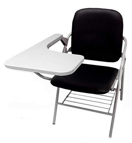 折り畳み式 テーブル 付き イス クッション 付き メモ台付き 会議 収納 チェアブル2 パイプ椅子 パイプイス ミーティングチェア 椅子 一体型 チェア 柔らかい CHBLE02 (ブラックx1脚)
