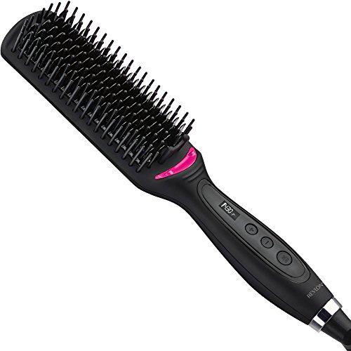 """Revlon 2nd Day Hair Straightening Heated Styling Brush, 4-1/2"""""""