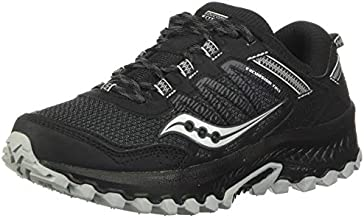 Saucony Women's Versafoam Excursion TR13 Trail Running Shoe, Black, 9 Wide