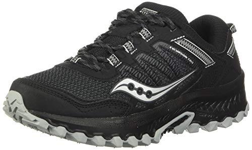 Saucony Women's Versafoam Excursion TR13 Trail Running Shoe, Black, 8.5 Wide