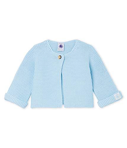 Petit Bateau Cardigan_4966302 Chaqueta Punto, Azul (Toudou 02), 52 (Talla del Fabricante: N 50centimeters) para Bebés
