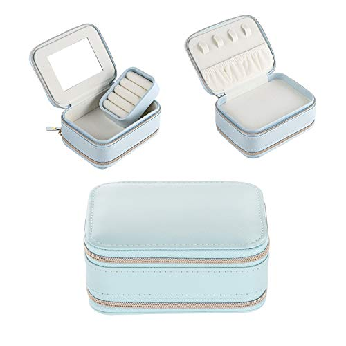 CaKoo Travel Jewellery Box, Sturdy and Lightweight Jewellery Organizer, Great for Traveling with Jewellery.(Blue)
