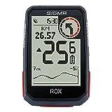 SIGMA SPORT ROX 4.0 Negro | Ciclocomputador inalámbrico GPS y navegación, con soporte GPS | Navegación GPS en exteriores con altimetría