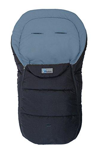 AltaBeBe AL2450D - 20 Sommerfußsack für Kinderwagen, 12-36 Monate, schwarz/dunkelgrau