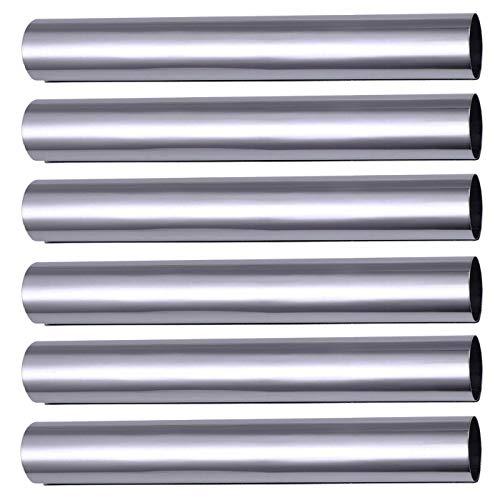 Rukauf Lot de 6 moules à rouleau de mousse en acier inoxydable (12,4 cm x 2 cm)