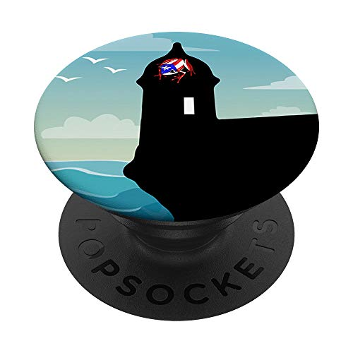 Puerto Rico Pride Coqui and Morro San Juan PopSockets PopGrip: Swappable Grip for Phones & Tablets