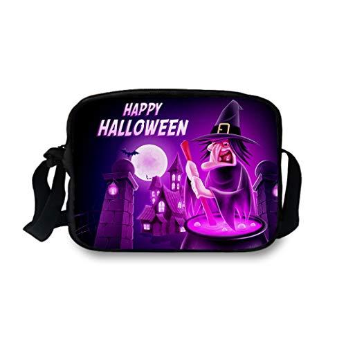 Lomelomme Halloween Taschen Lustig Frauen und Männer Einzelne Umhängetaschen Erwachsener Kürbis Kuriertaschen Unisex Umhängetasche Hüfttasche Freizeittasche Schultasche