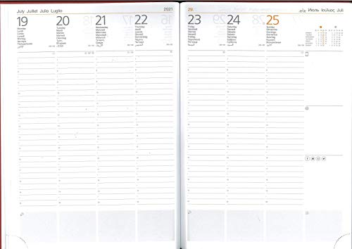 Agenda Cangini Filippi Settimanale AD HOC XXL 2021 cm. 21x29,7