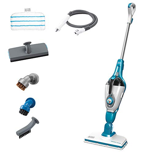 Best Price BLACK+DECKER Steam Mop and Portable Steamer, 5-in-1, Corded (HSMC1321)