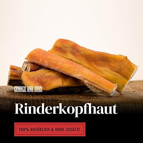 George & Bobs Rinderkopfhaut 1000g | 12cm Stücke | aus Deutschland | 100{4df01796bca237809078b96b57e7ce6b9cb02b0c63b81f2eef6a6bd69d6bb477} Rind | Premium Kausnack | Ideale Zahnreinigung